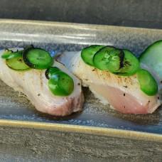 Seared Yellowtail Sushi